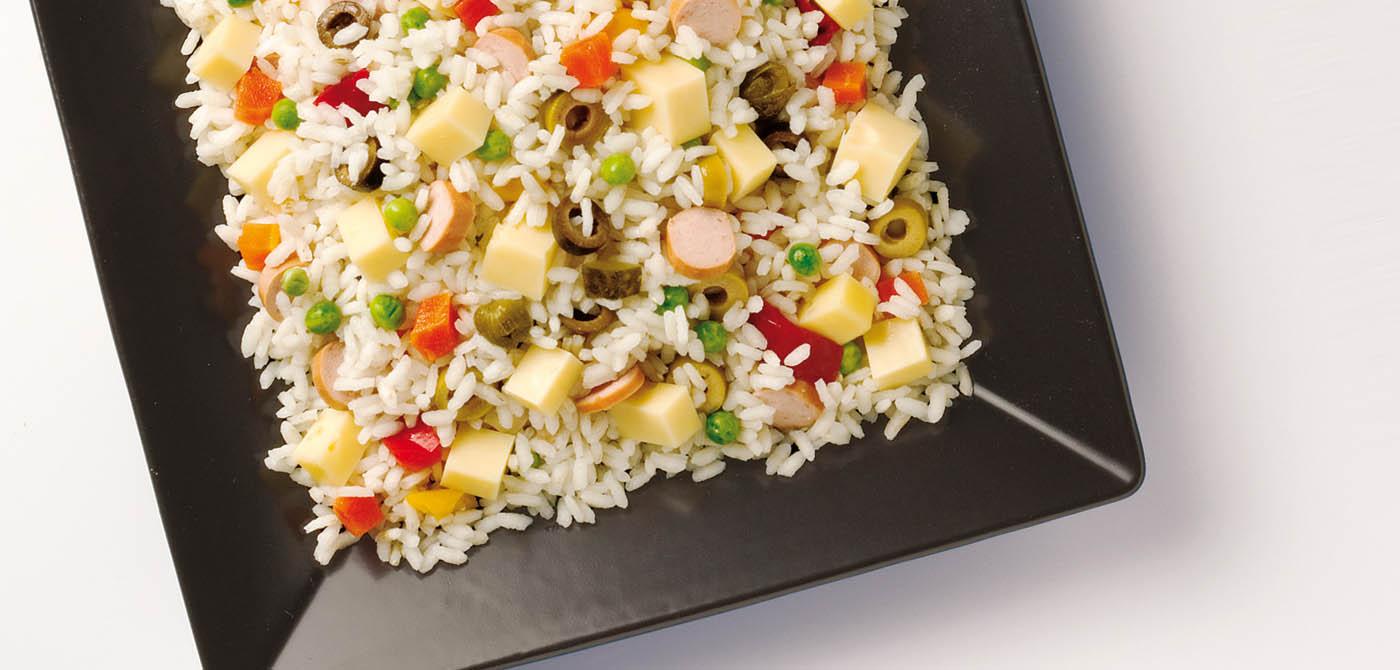 Rýžový salát se sýrem Leerdammer
